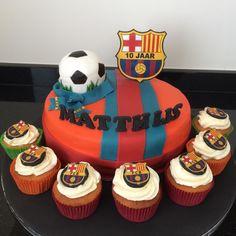 Barcelona taart cake voetbal