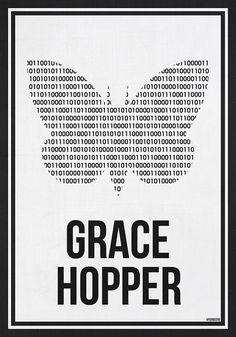 GRACE HOPPER - Women in Science Wall Art by Hydrogene