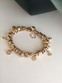 Gold pandora, special jewelry.