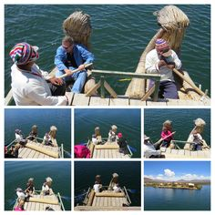 20130925_0135e02TiticacaRowing-COLLAGE - #Rowing a #grassboat on lake #Titicaca in the #Uros village near #Puno, #Peru. #holiday #travel #experience #collage