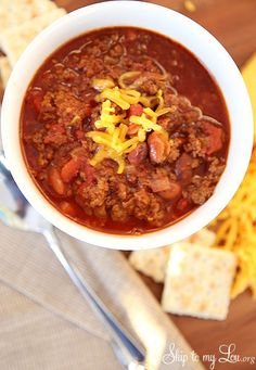 Slow Cooker Chili - Skip To My Lou
