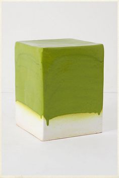 Ceramic side table. Has a #Pantone feel to it.