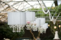 lampshade, with chandelier. love this line of them.