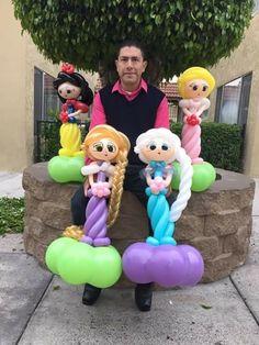 princess Wedding Balloon Decorations, Balloon Centerpieces, Wedding Balloons, Birthday Balloons, Balloon Toys, Balloon Animals, Balloon Face, Princess Balloons, Balloons Galore