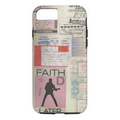 Los Angeles vintage Concert Tickets Typography iPhone 7 Case