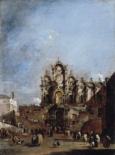 View of the Campo San Zanipolo in Venice by Francesco Guardi