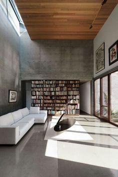Concrete interior walls