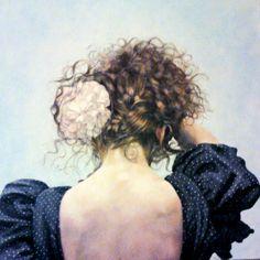 Oil on Canvas by Kartanflat Antoni Conejo. Bailaora malagueña Dreadlocks, Hair Styles, Beauty, Rabbits, Paintings, Hair Plait Styles, Hair Makeup, Hairdos, Haircut Styles