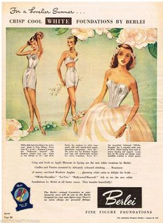 Image result for 1940s lingerie ads