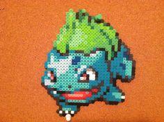 Bulbasaur Pokemon Perler Beads 8bit Art by ElisaStarfire on Etsy, $15.00