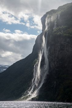 Seven Sisters Waterfall in the Geiranger fjord, Norway