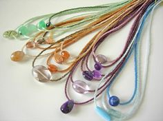 adove fine jewelry delicates collection.  various gemstones framed in japan glass delica beads and finished in sterling silver.  adove fine jewelry.