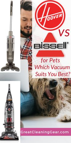 The Ultimate Guide to Comparing Hoover vs Bissell pet vacuums to help with the elimination of pet hair, dirt, and dander. With the help of this guide, you'll be able to compare Hoover vs Bissell pet vacuums to make your decision much easier. Best Upright Vacuum Cleaner, Carpet Cleaner Vacuum, Carpet Cleaners, Laminate Flooring Cleaner, Cleaning Tile Floors, Floor Cleaning, Pet Vacuum, Deep Cleaning Tips
