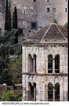 Church of Sant Pere de Galligants monastery  Girona. Catalonia