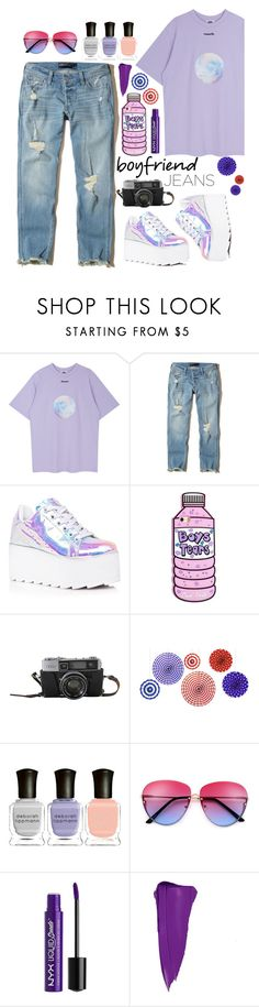 """Boyfriend Jeans"" by j4wahir on Polyvore featuring Hollister Co., Y.R.U., Deborah Lippmann, Charlotte Russe, pastel, contestentry, womensFashion, polyvorefashion and polyvoreset"