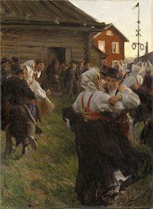 Mittsommerfest – schwedischer midsommar. Gemälde von Anders Zorn 1897