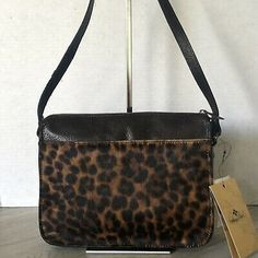 Patricia Nash Nazaire Crossbody in Leopard Haircalf. Haifcalf and distressed chocolate leather. Leather Tooling, Pu Leather, Brown Leather, Small Sized Bags, Crossbody Bag, Tote Bag, Patricia Nash, Victoria Secret Bags, Chocolate Brown