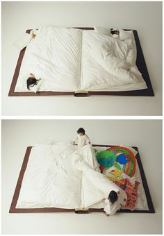 Book inspired bed.