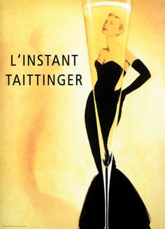 Taittinger -- my favorite champagne and one of my favorite vintage ads.