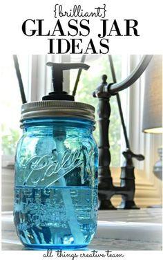 Brilliant Glass Jar Ideas (redheadcandecorate.com - Home/Julie's Blog)