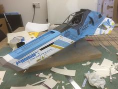 Feisar ship model from the game Wipeout