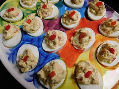 Cheese with Noodles: Fantastical Food Fight: Pimento Cheese Deviled Eggs