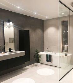 Grey Bathrooms, Small Bathroom, Master Bathroom, Best Online Furniture Stores, Furniture Shopping, Affordable Furniture, Modern Farmhouse Bathroom, House And Home Magazine, Bathroom Interior Design