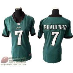 Maglie Nfl Poco Prezzo Donna Bradford Philadelphia Eagles #7 Verde  €32.9