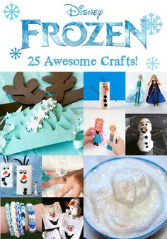 Disney Frozen Crafts: 25 Awesome Ideas. My favorites: snowflake t-shirt, glitter Easter eggs, Norwegian paper heart basket