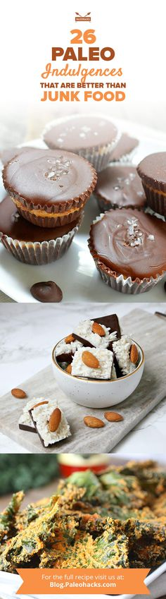 You never know when the junk food craving will hit, so keep these sweet and salty Paleo indulgences on hand! Find all recipes here: http://paleo.co/paleojunkfood