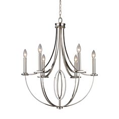 The Dione collection utilizes sleek lines with laser cut oval accents to achieve a perfect balance. The polished nickel finish contributes to this collection's refined beauty.