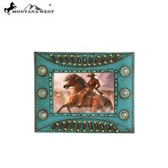 Indian Beaded Resin Photo Frame - Turquoise