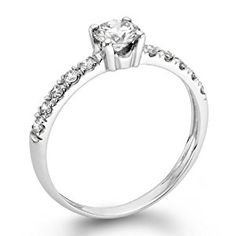 14K Gold / White 1/2ct EGL Certified Diamond Engagement Ring Round Cut G Color SI1 Clarity  http://electmejewellery.com/jewelry/rings/14k-gold-white-12ct-egl-certified-diamond-engagement-ring-round-cut-g-color-si1-clarity-couk/