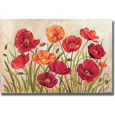 Kimberly Poloson 'Poppies' Canvas Art | Overstock.com Shopping - The Best Deals on Gallery Wrapped Canvas