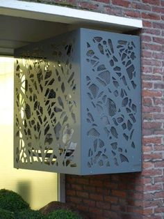 Air Conditioner Cover Outdoor, Ac Cover, Carport Designs, Bollard Lighting, Steel Art, Coffee Table Design, Lovers Art, Home Crafts, Diy