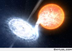 A star consumed by a black hole (NASA)