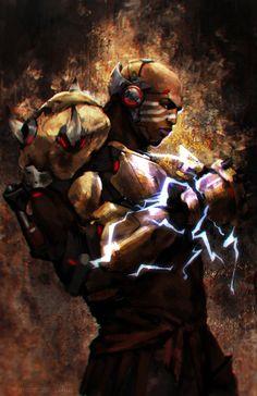 """Defeat makes me stronger.""  Doomfist HYPE! Feels... - Art Blog"
