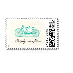 Cute Postage-Bicycle Built For Two Wedding Postage from Zazzle.com