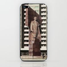 East berlin Lenin Statue iPhone & iPod Skin by Friedas Glück - $15.00