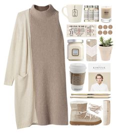 """Walking Through a Winter Wonderland"" by dana-rachel ❤ liked on Polyvore featuring STELLA McCARTNEY, Monki, Moncler, Très Pure, Laura Mercier, Baxter of California and HAY"