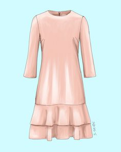 Dieses A-Linien-Kleid ist für pure Romantikerinnen der Hit. Fashion Models, Dresses With Sleeves, Plus Size, Couture, Long Sleeve, Anna, Style, Diy, Styling Tips