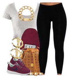 """""""Slowly adding more clothes to my fits.."""" by livelifefreelyy ❤ liked on Polyvore featuring Dimepiece, MCM, NIKE, Michael Kors and ASOS"""