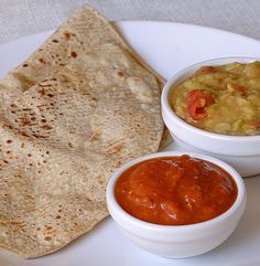 The Chapati is a flat un-leavened bread made on stove-top over a hot iron griddle (Tawa). The flour for Chapati may be made by grinding wheat, Millet (Bajra, Jowar), corn etcetera. the skill is in making the dough, soft, but not sticky, and kept for atleast half an hour. These also taste delicious with a cup of tea along the side. Or any type of sauce to add some flavour, you can pair these with a lot of thing actually, even potatoes or vegetables basically anything!