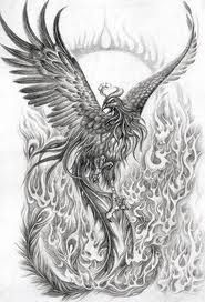 phoenix tattoo, I have been looking for one of the phoenix rising from the flames.