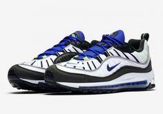 c7abd9f708bfc Best Quality Nike Air Max 98 Sprite Black Racer Blue Volt White 640744-103  Jordan