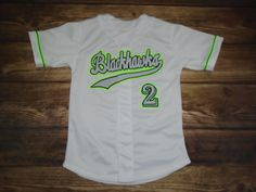 Blackhawks Baseball designed this custom jersey and Liddle's Sports & Apparel in Lee's Summit, MO created it for the team! http://www.garbathletics.com/blog/blackhawks-baseball-custom-jersey-3/ Create your own custom uniforms at www.garbathletics.com!