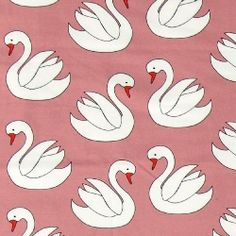 Stretch jersey dark rose with swans Swans, Rose, Fabrics, Dark, Online Shopping, Tejidos, Pink, Roses, Cloths