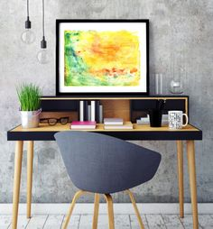 """Poster """"Spring landscape"""", Beautiful poster, Housewarming Gift, Beautiful Poster, Interior Decoration, Abstract Poster, Green, Yellow, Red by MerryGallery on Etsy Spring Landscape, Beautiful Posters, True Love, House Warming, Interior Decorating, Abstract, Trending Outfits, Decoration, Handmade Gifts"""