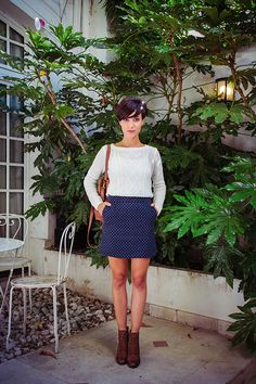 california winter style- with some nice wool stockings this would be suitable for alaska
