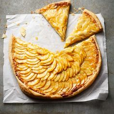 This French apple tart looks beautiful making it perfect for a dinner party pudding.